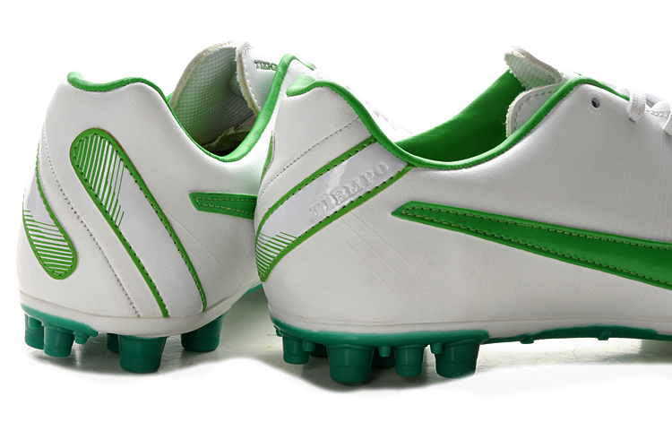 White Green Nike Tiempo Mystic IV AG Cleats