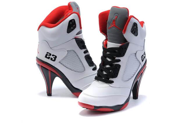 Nike Jordan 5 High Heels