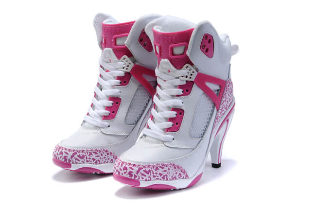 Jordan High Heels 2011 in pink color