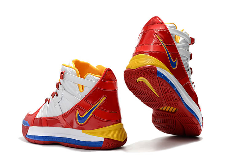 Nike LeBron 3 White/Red Yellow