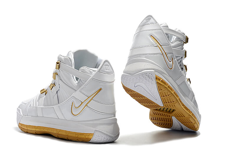 Nike LeBron 3 White/Gold